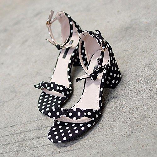 una Hadas 35 Proa con DIDIDD Palabra con Romanos Mujer Gruesos Zapatos de de de Zapatos Mi qg8OwZ