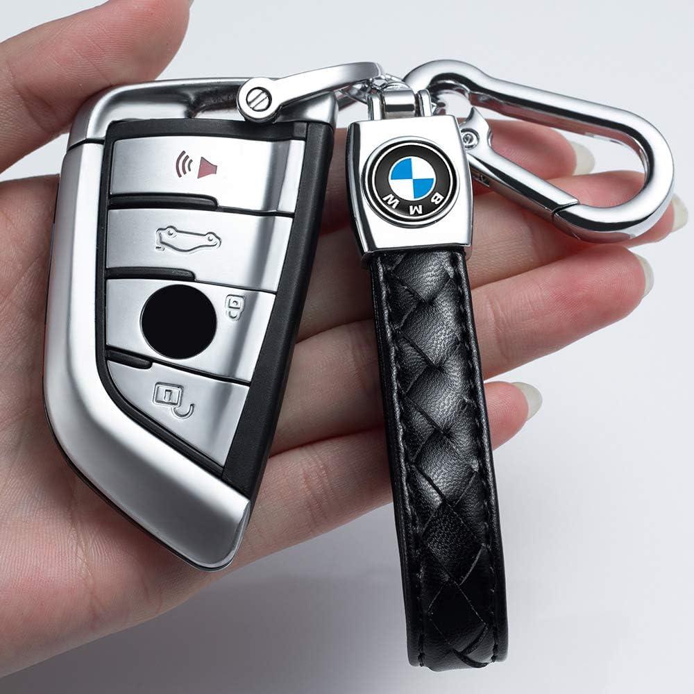 Genuine Leather Car Key Fob Key Chain Keychain for Chevrolet Cruze Malibu Camaro Colorado Equinox Silverado,Business Gift Birthday Present for Men and Woman