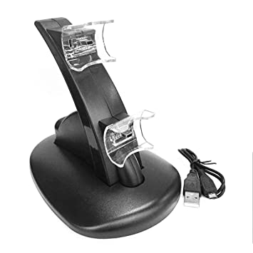 Luz LED Negra Cargador de Soporte de Muelle de Carga USB ...