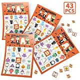 KD KIDPAR Halloween Bingo Cards Game Set for Kids and Whole Family - 32 Players, Reusable and Easy Read: more info