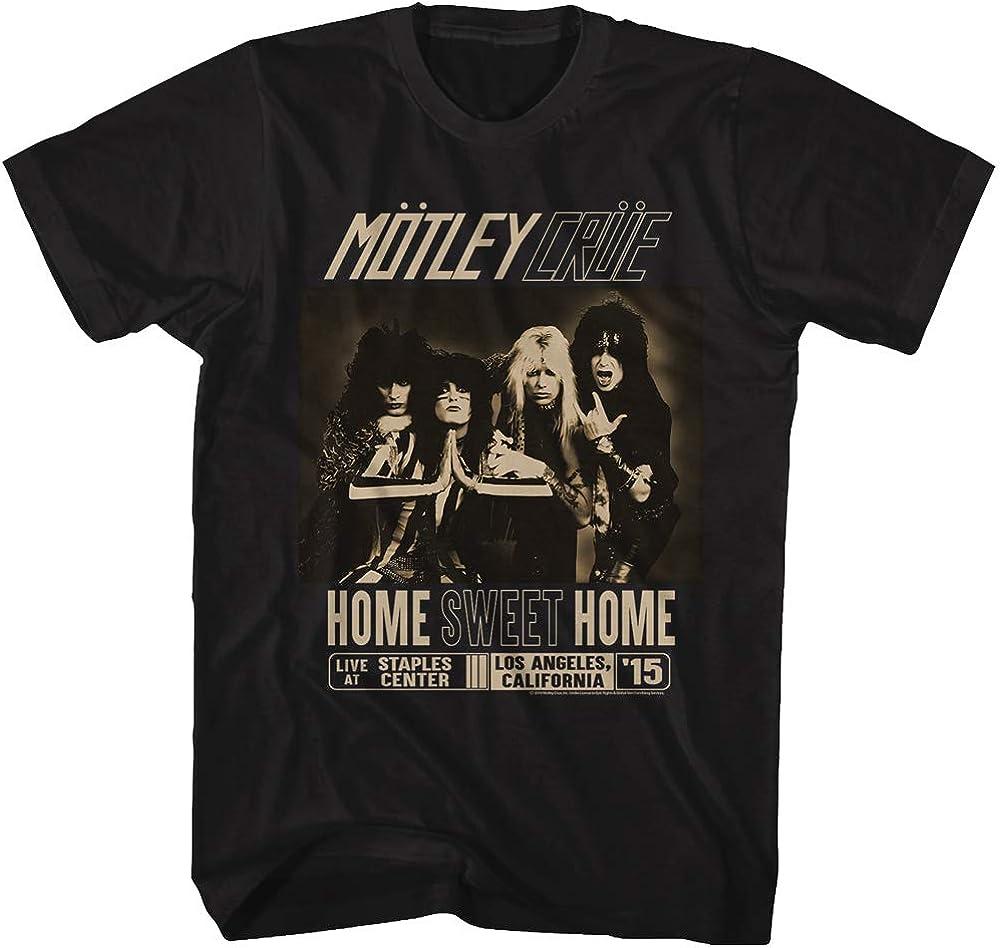 Motley Crue 1981 Heavy Metal Rock Band Home Sweet Home Black Adult T-Shirt Tee
