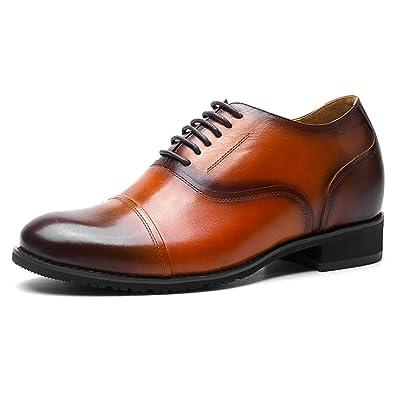 CHAMARIPA Chaussure Rehaussante en Cuire de Maron Homme pour Ceremonie Officielle 7,5 cm - 252H11-2
