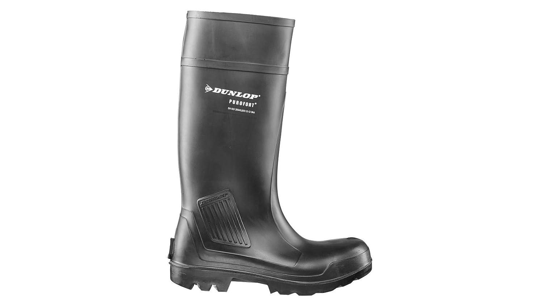 Dunlop Purofort Professional Full Safety Gummistiefel Schwartz EU 40