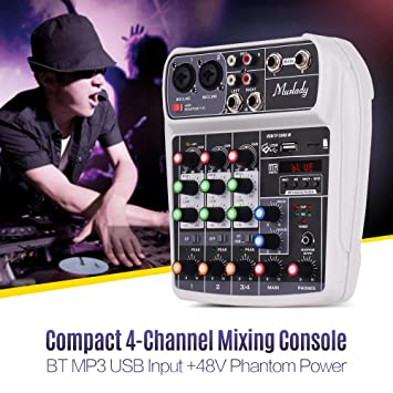 Kalaok AI-4 Tarjeta de sonido compacta Consola de mezclas ...