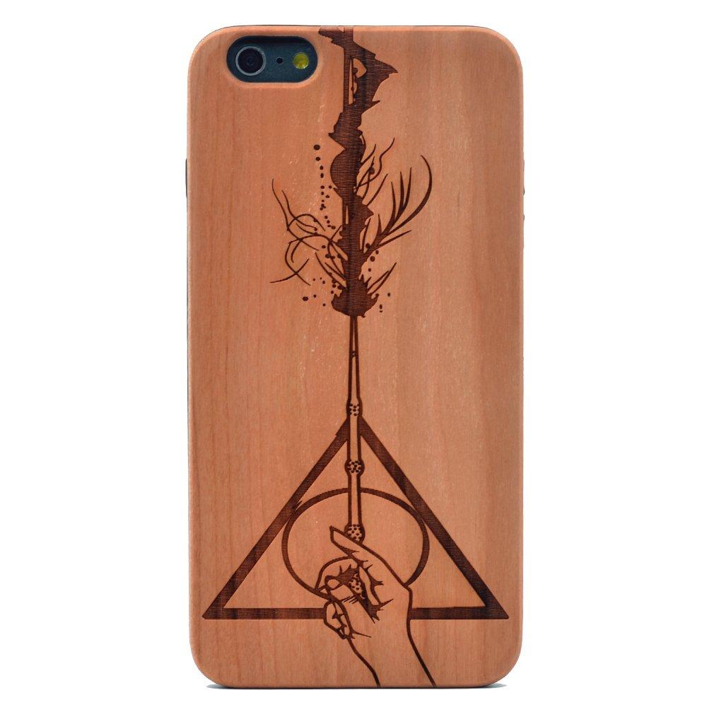 Amazon.com: Carcasa de madera para iPhone 6S Plus/iPhone 6 ...