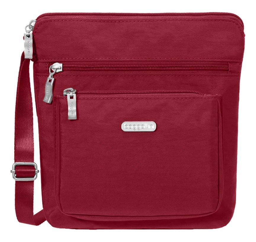 Baggallini Pocket Crossbody Travel Bag Charcoal One Size POC879B0021