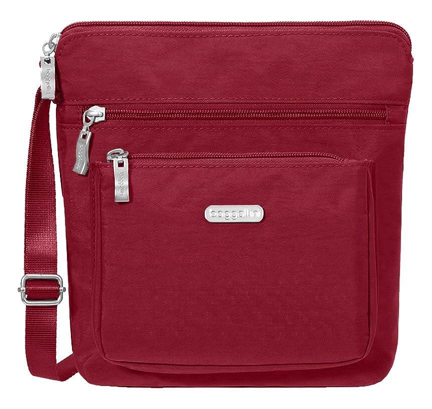 Baggallini Pocket Crossbody Travel Bag Black/Sand One Size POC879B0018