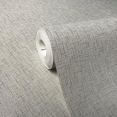 QUADRUPLE ROLLS 113.52sq.ft embossed Slavyanski wallcoverings washable plain Vinyl Non-Woven Wallpaper platinum silver gray solid color metallic modern textured glitters sparkles paste the wall only