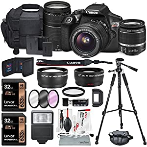 Canon EOS Rebel T6 DSLR Camera Bundle with EF-S 18-55mm f/3.5-5.6 IS II Lens, EF 75-300mm f/4-5.6 III Lens and Accessories (18 items)