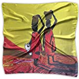 Fashion Girl's Africa Arts, Paintings Print Square Kerchief Scarf Head Wrap Neck Satin Shawl