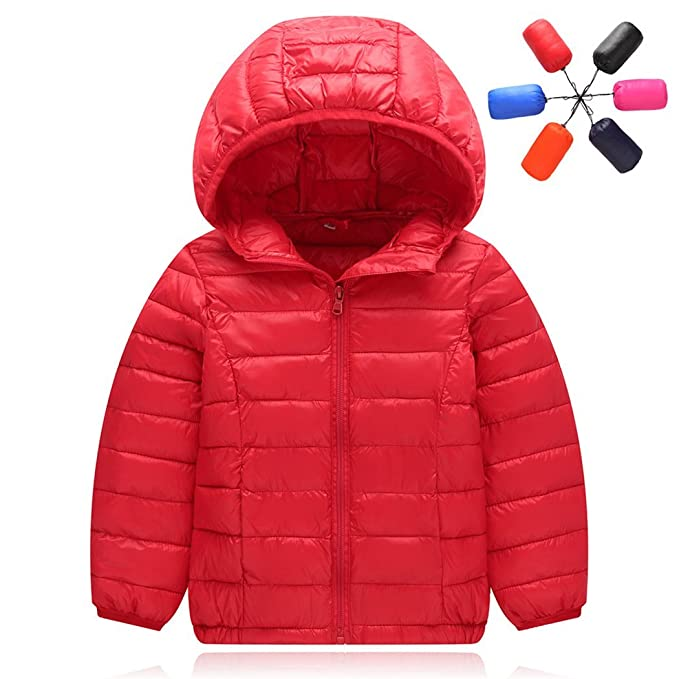 1c22946354e0 Dehutin Ultra-light Down Jacket For Kids Hooded Zipper Jacket for ...