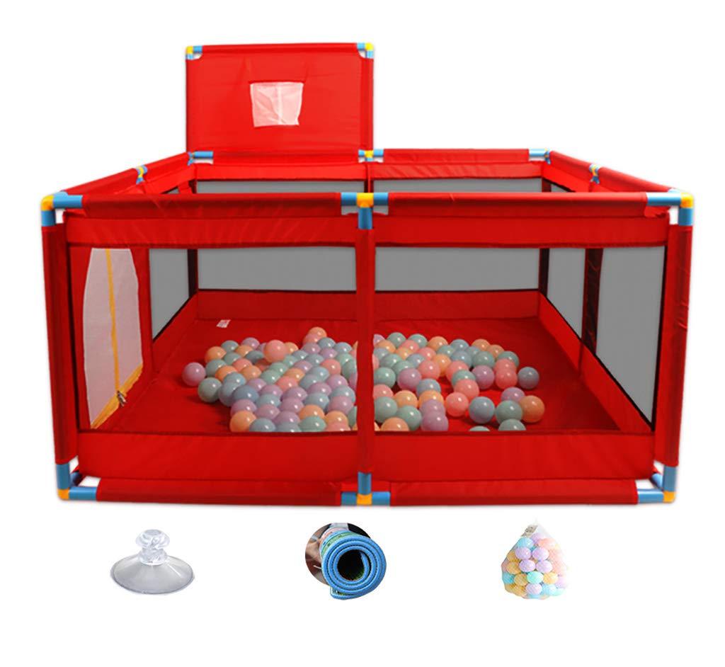 赤ちゃんPlayard 8パネルベビーベビーサークル、幼児男の子女の子のための屋内ポータブル安全ベビーサークル、128 x 128 x 66 cm、高さ66 cm (色 : STYLE2)  STYLE2 B07MZRHJ42