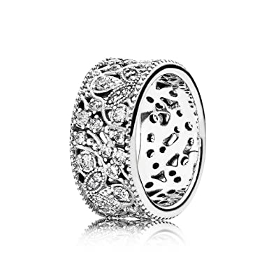 baf700d69 Amazon.com: PANDORA Shimmering Leaves Ring 190965CZ, Different Sizes  Available (5 / 50): Jewelry