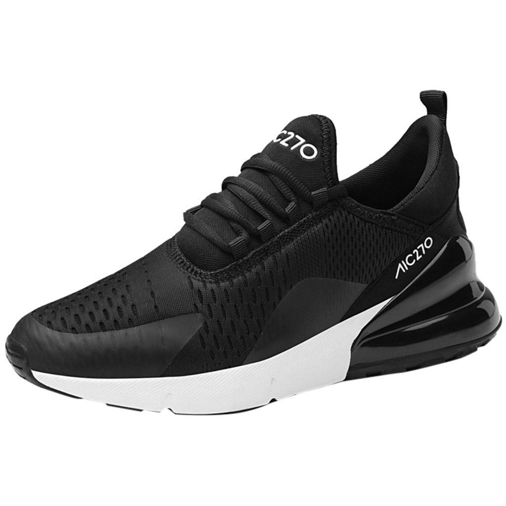 F_Gotal Mens Shoes Casual Mesh Breathable Lightweight Running Shoes Air Cushion Training Shoes Outdoor Sport Sneakers White by F_Gotal Shoes