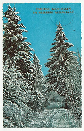 Merry Christmas and Prosperous New Year Vintage Original Postcard #0778 - 1970's