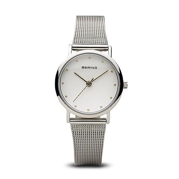 BERING Reloj Analógico para Mujer de Cuarzo con Correa en Acero Inoxidable 13426-001: Amazon.es: Relojes