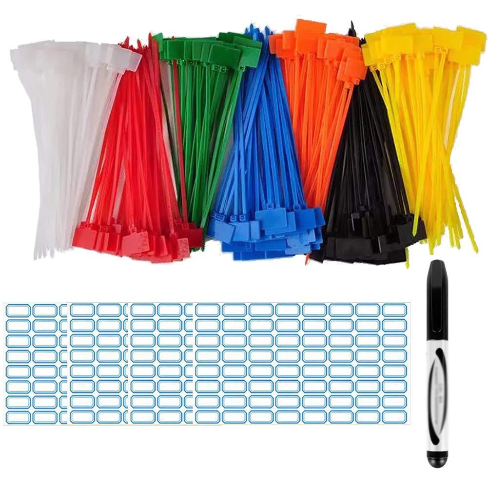 140 etiquetas de corbata de cable coloridas en 15 cm con 256 ...