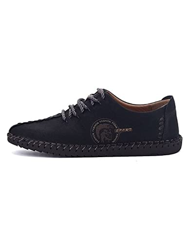 Robert Reyna Fashion Men's Suede Oxfords Flat Shoes Lace-ups