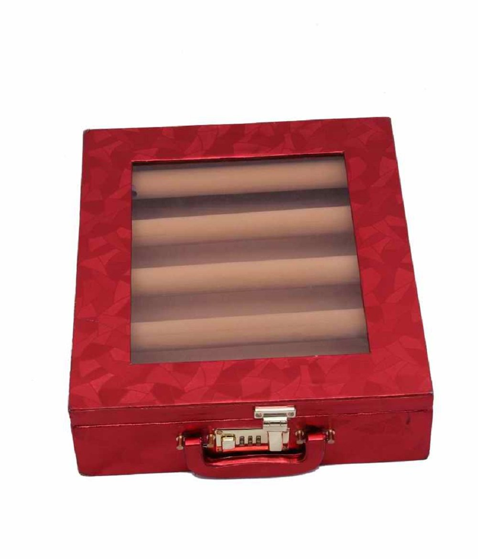 Kuber Industries 5 Rods Transparent Bangle Organizer Box Jewelry Storage Case (Lock System)