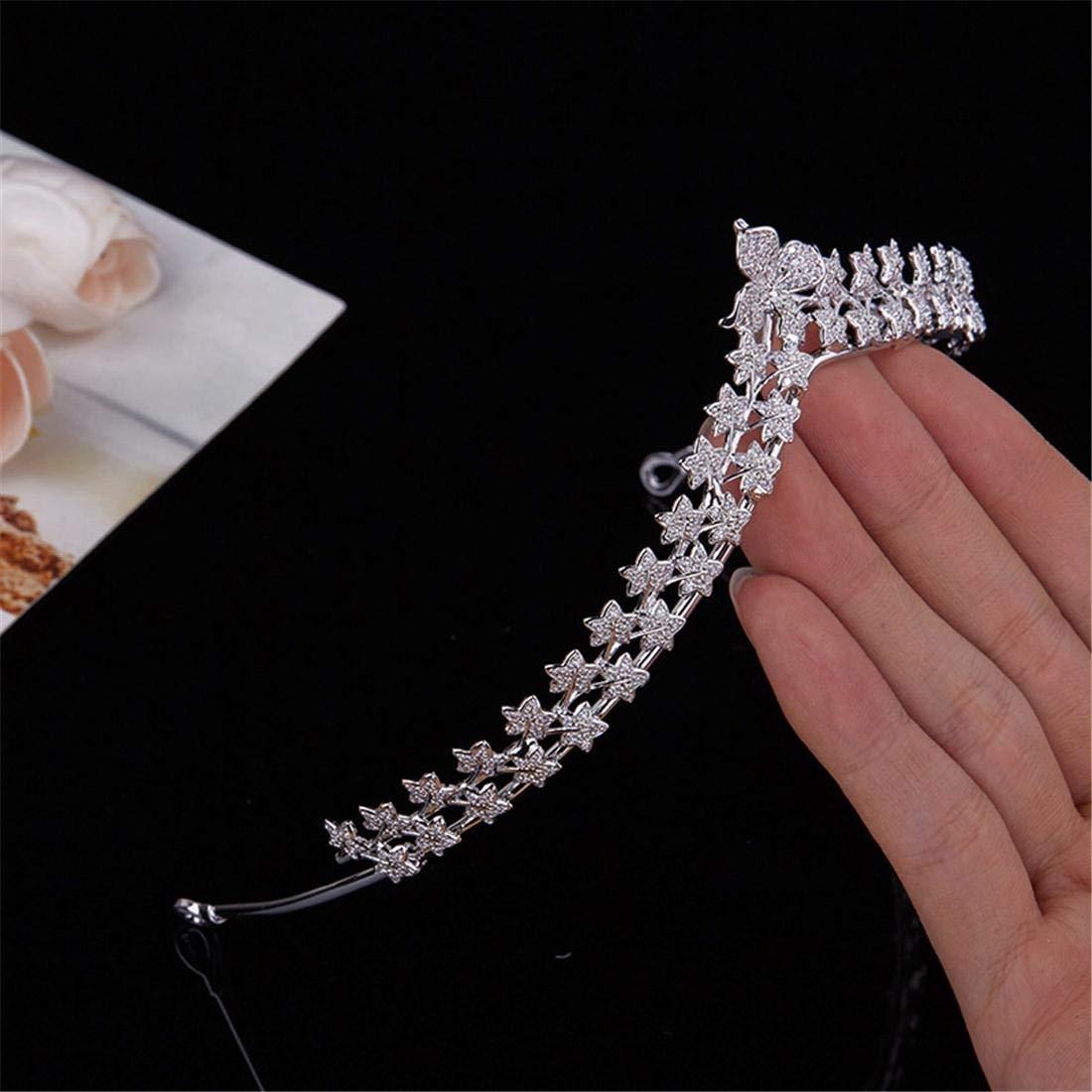 Fubulecy Crown Head Jewelry Simple Four Leaf Clover Flower High