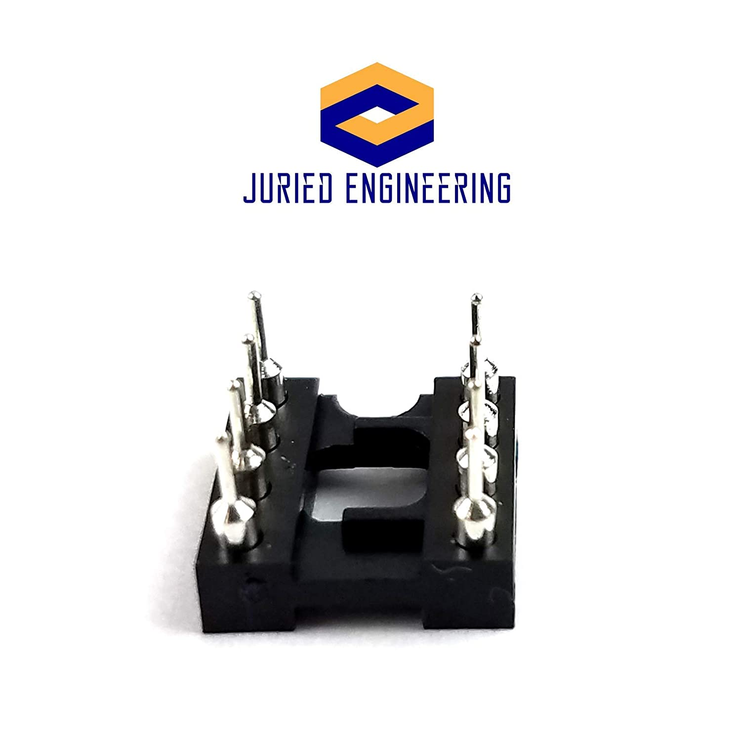 Pack of 1 Juried Engineering DIP-8 IC DIP Sockets Machined Round Contact Pins Holes Pitch 2.54mm 8-Pin DIP DIP8 DIP 8 Breadboard-Friendly