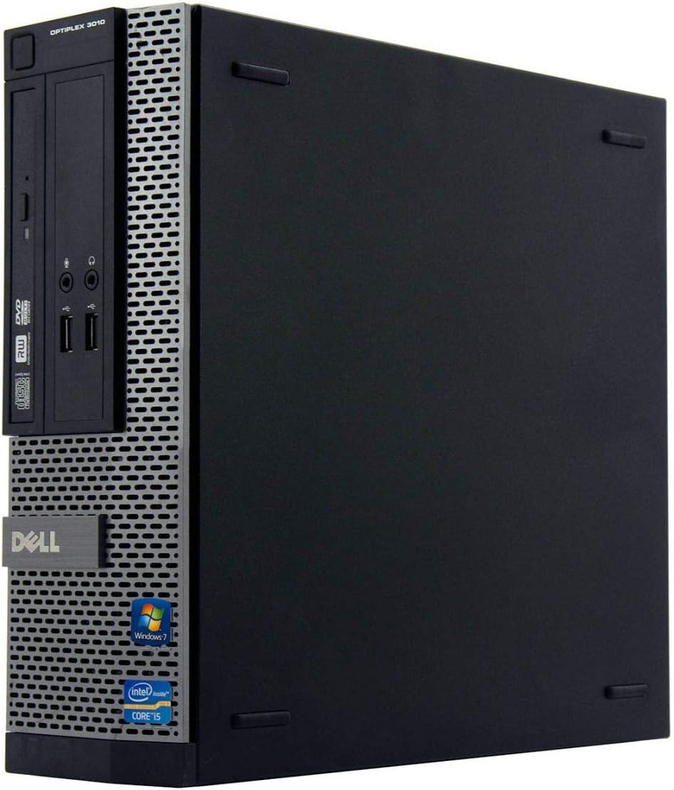 Dell OptiPlex 3010 SFF-Ordenador de sobremesa (procesador Intel Core i5 de 3,20 GHz, memoria RAM DDR3 de 8 GB, disco duro SSD de 240 GB,DVD, Windows 10 Pro de 64 bits, certificado y reacondicionado)