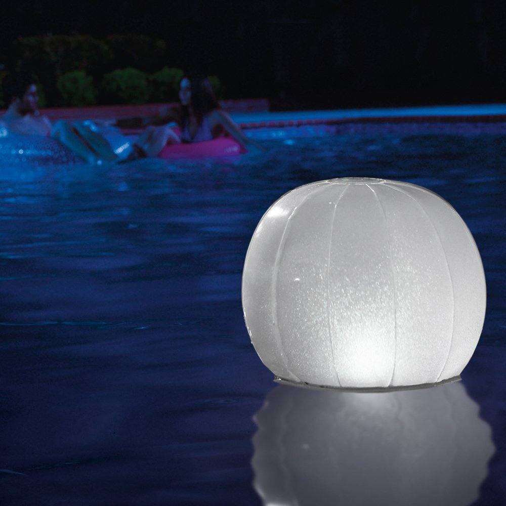 Intex Floating LED Lamp–For Swimming Pools, Round Shape, 23x 22cm (28693) Ball 0.40000000000000036x16x13.8 cm multicoloured