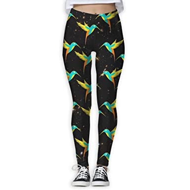45d519eaf5e83 Image Unavailable. Image not available for. Color: WPE8 Beautiful Cute  Hummingbird Women's S Workout Running Gym Tights Leggings High Waist ...