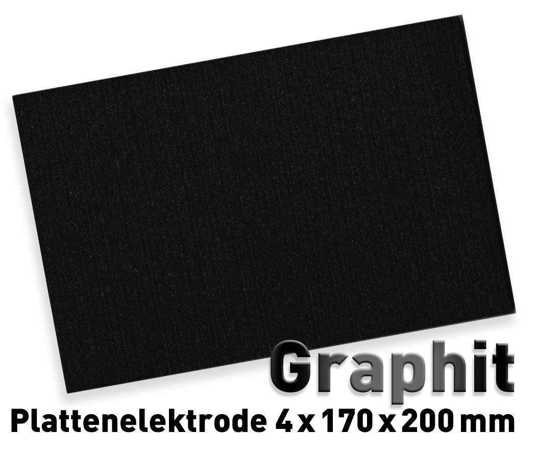 Graphit-Anode (200 x 170 mm) für Galvanik, Elektrolyse 17 x 20 cm, Alternative zu Platin-Elektrode, Plattenelektrode