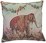 Corona Decor French Woven Elephant Decorative Pillow