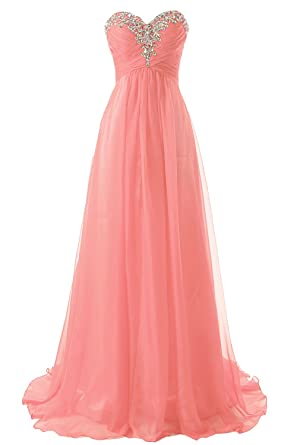 JAEDEN Sweetheart Formal Evening Dresses Strapless Long Prom Gown Bridesmaid Dress Coral US14