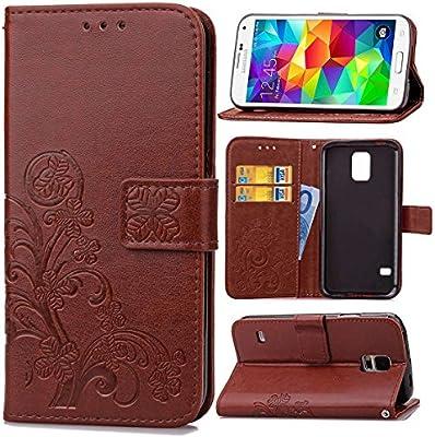 Guran® Funda de Cuero PU para Samsung Galaxy S5 Mini Smartphone ...