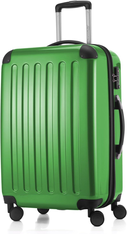 HAUPTSTADTKOFFER - Alex - Maleta Rígida Equipaje Mediano, Candado TSA, Trolley con 4 Ruedas multidireccional, TSA, 65 cm, 74 litros, Verde