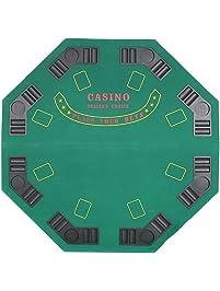 Livebest Folding Poker Table Octagon Blackjack Casino And Holdem Gambling  Desk 8 Players