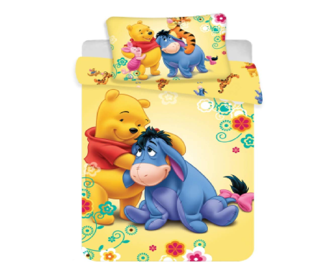 Jerry Fabrics Bettwäsche 100x135 + 40x60cm Winnie The Pooh Baby 8592753014578