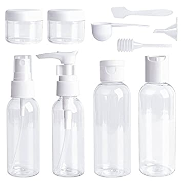 Amazon.com: Dwr Conjunto de botellas de viaje, 10 pcs mini ...