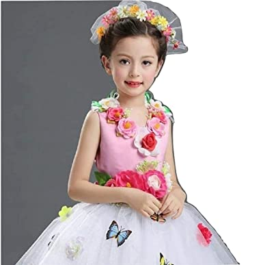 THE DUBAI STUDIO Baby Girls Flower Appliques Pageant Birthday Party