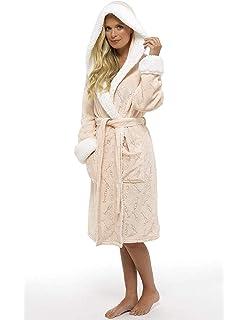 Ladies Dressing Gown Shaggy Soft Fleece Women Gowns Robe Bathrobe  Loungewear for… bcadb2520