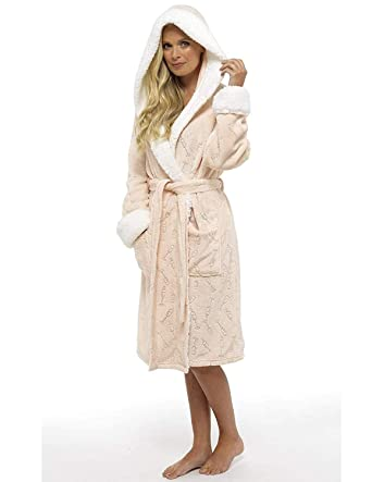 CityComfort Ladies Dressing Gown Shaggy Soft Fleece Women Gowns Robe ...