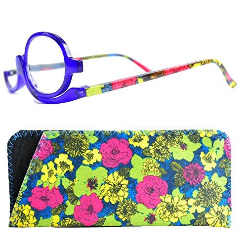 Make Up Schminkbrille mit Etui von Mini Brille (+2,5, Blau)