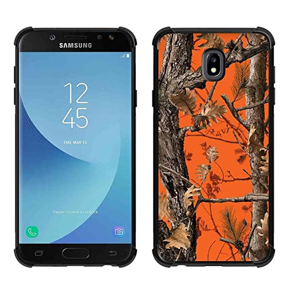 new arrival b9cec 1af1b Samsung Galaxy J7 2018 Case,Galaxy J7 Refine Case,Galaxy J7 V 2nd Gen  Case,Galaxy J7 Top/J7 Star/J7 Aero/J7 Crown Orange Camo Case, ABLOOMBOX  Slim ...