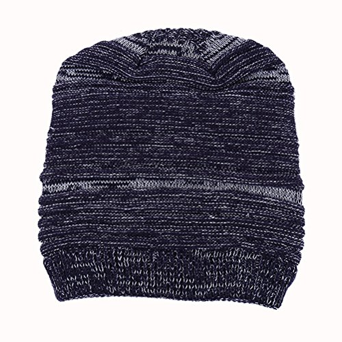 Cap punto Women's Knit Ski Winter Slouchy Warm Hat Gorros Blue Dark Cable Zhhlaixing de Thick Skull Beanie Men's EZnpw