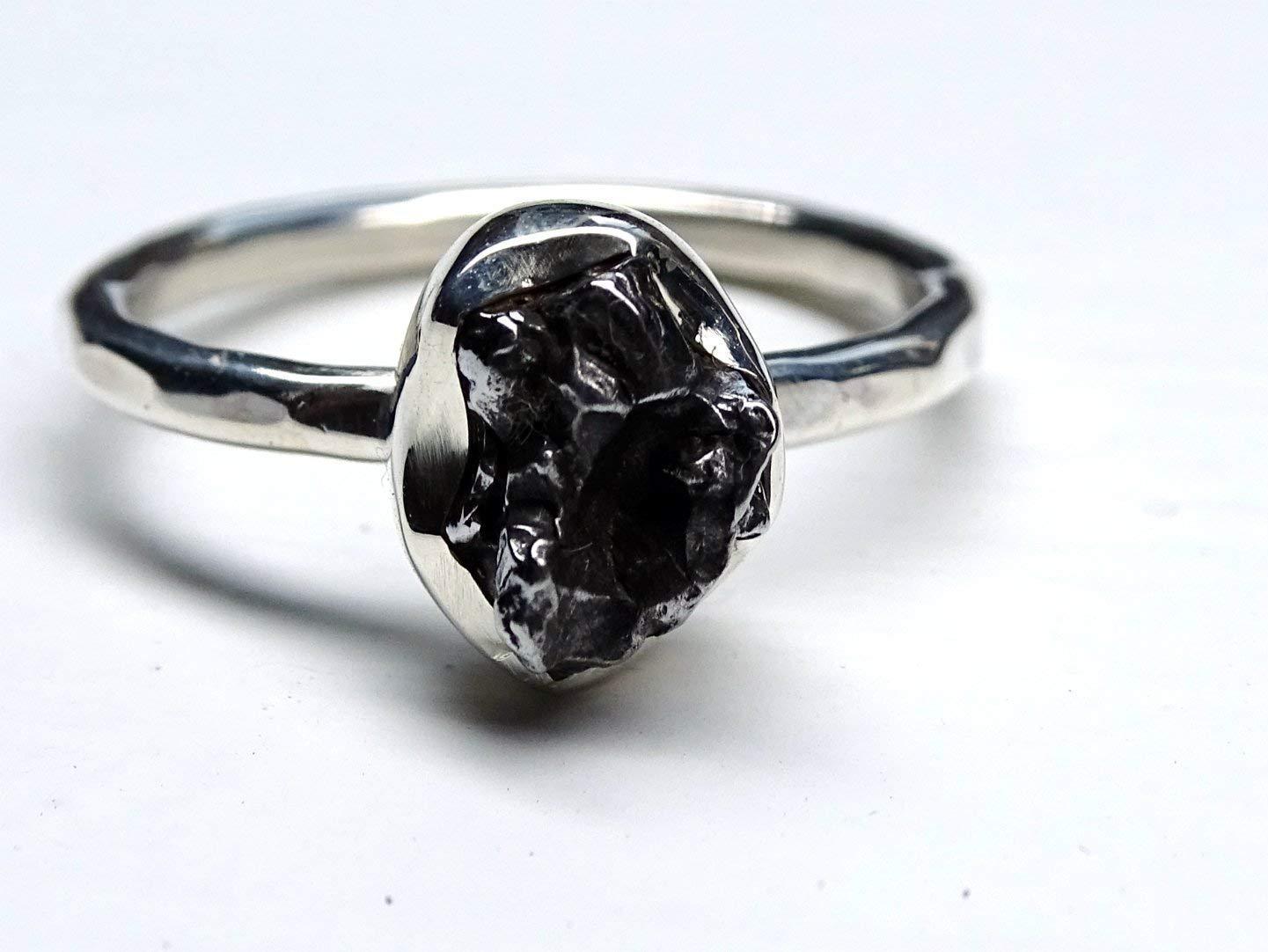 Meteorite And Titanium Ring
