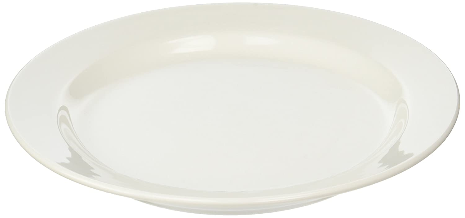 Image of Office Settings OSICTR1 Chef's Table Collection Fine Porcelain Round Dinner Plates, All-White Dinner Plates