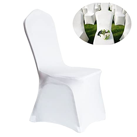 Peachy 100Pcs Universal Spandex Chair Covers For Wedding Supply Party Banquet Decoration White Creativecarmelina Interior Chair Design Creativecarmelinacom