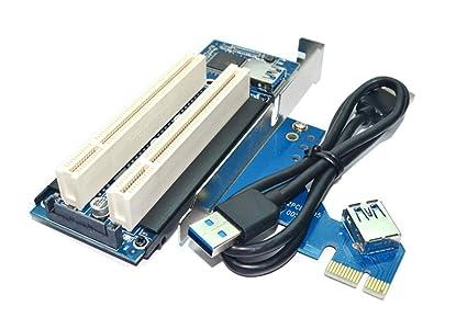 MingChuan PCI-e a Tarjeta PCI PCIe a Doble Ranura PCI ...