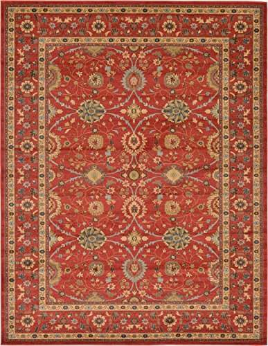 A2Z Rug Heritage Collection Persian Traditional Area Rug Red, Red - 9' x 12' FT High Class Living Dinning Room & Bedroom Rugs, Oriental Floor and Carpets