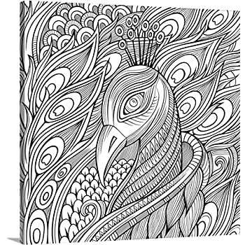 Olga kostenko coloring canvas wall art print entitled pavlin colorable