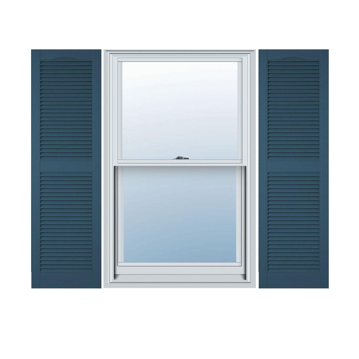 14.5W x 80H Builders Edge  Shutters 036 Per Pair Classic Blue