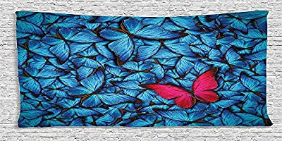 Cotton Microfiber Bathroom Towels Ultra Soft Hotel SPA Beach Pool Bath Towel Butterflies Decoration Collection Colorful Butterflies Tropical Large Bugs Lepidoptera Collection Free Unlikeness